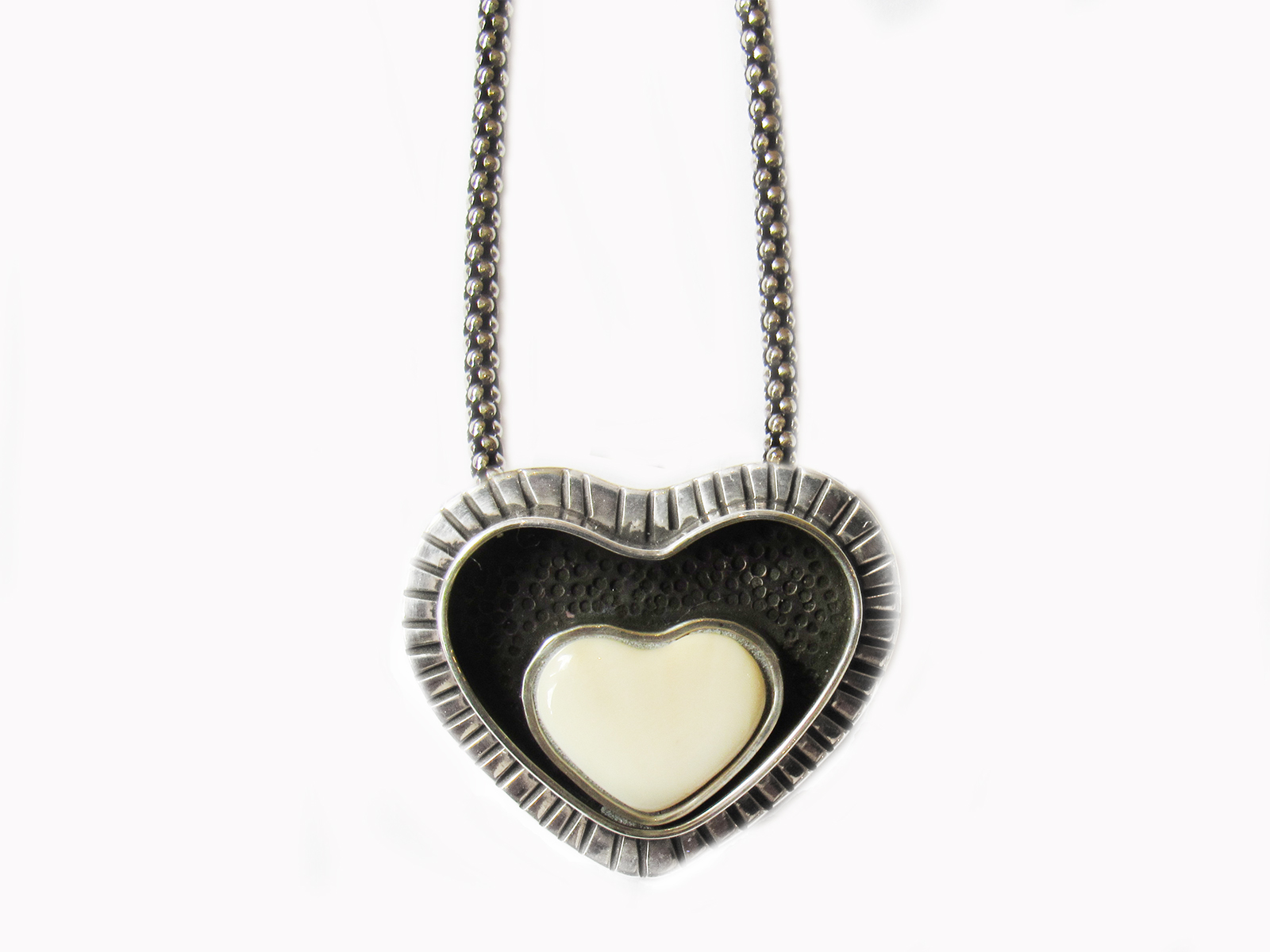 Shadow Box Heart Necklace