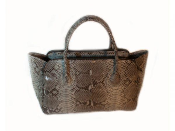 Grey Python Handbag