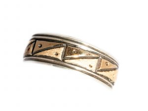 Gold Silver Wedding Band