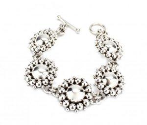 Silver Bead Dome Bracelet