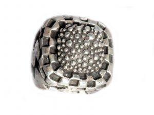 Silver Checked Ring