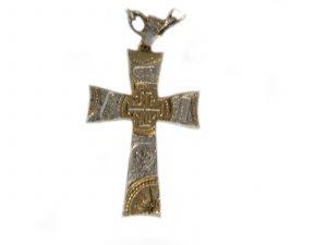 Santa Fe Silver Gold Cross