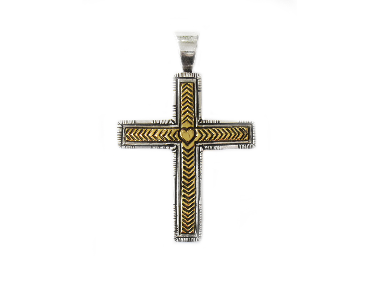 Silver Gold Cross Pendant