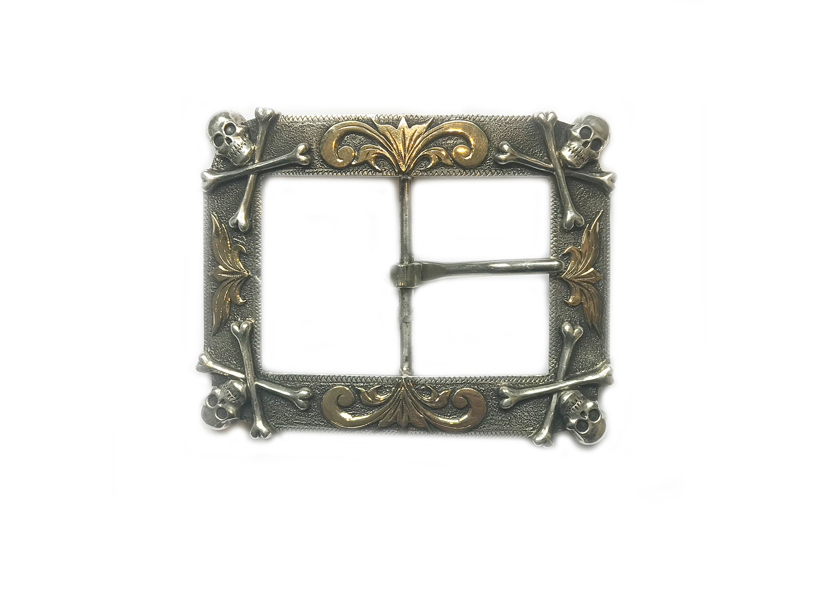 Crossbones Corners With Gold Belt Buckle