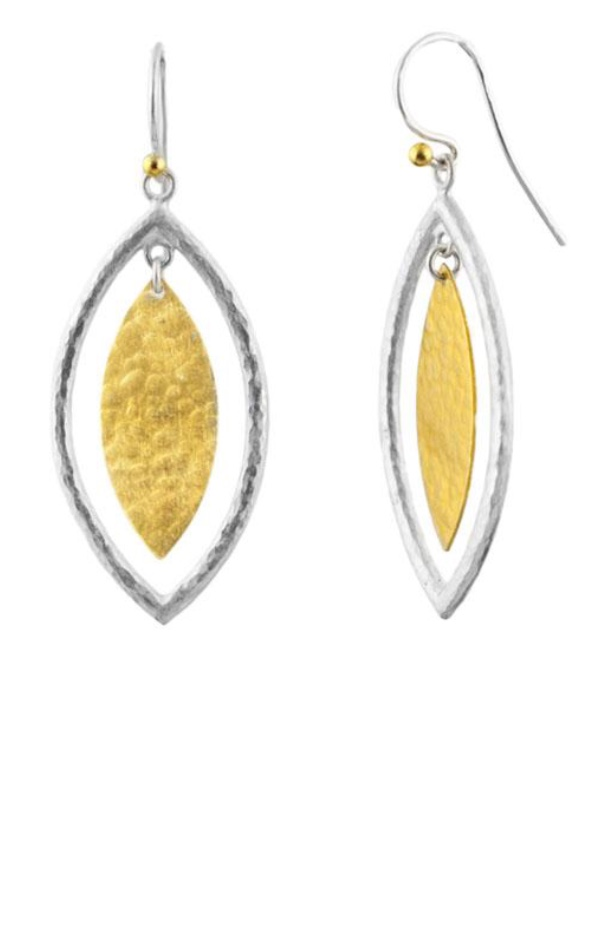 Gold Silver Willow Geo Dangle Earrings