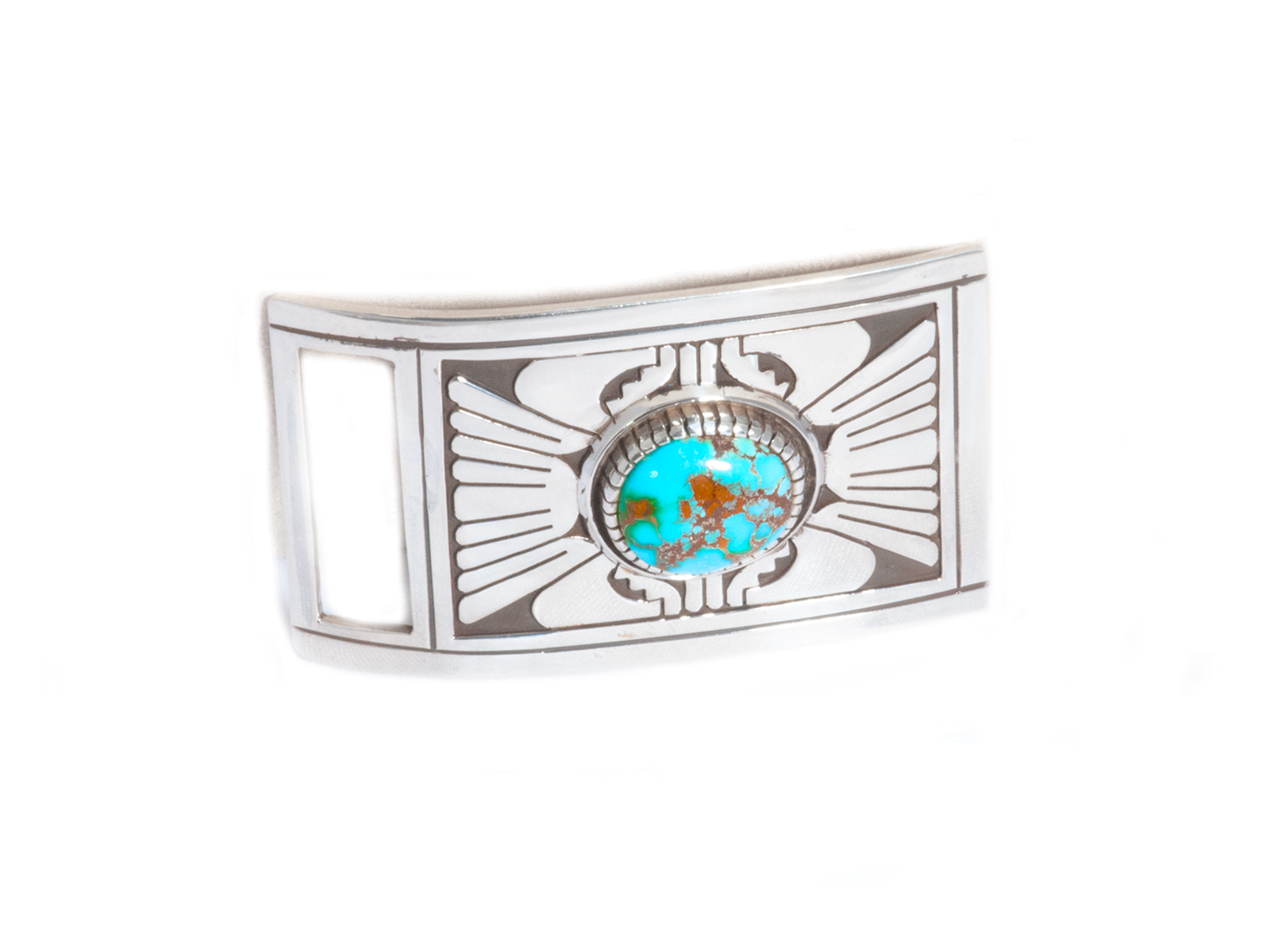 Sterling Silver Royston Turquoise Buckle