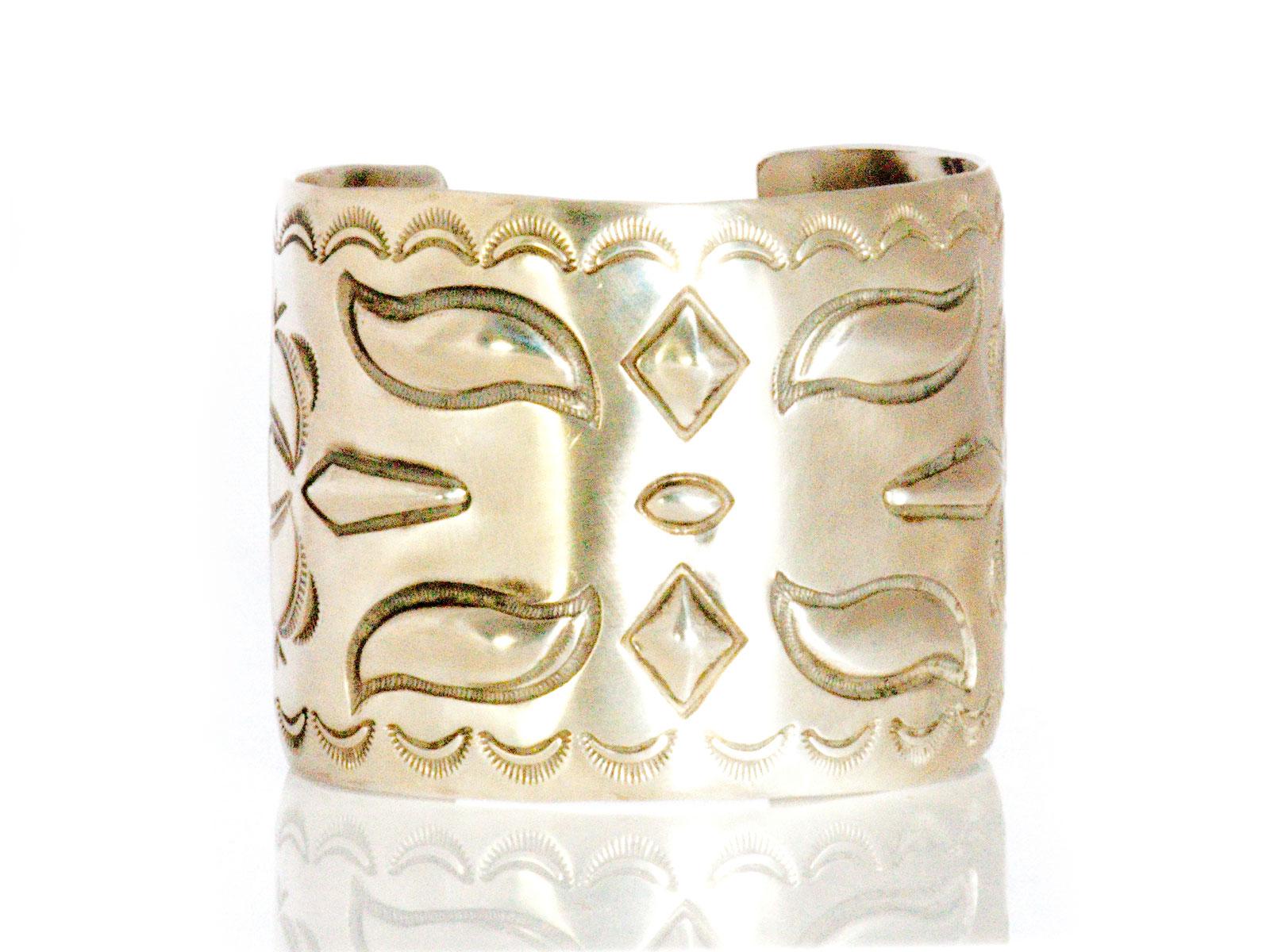 Silver Stamped Cuff