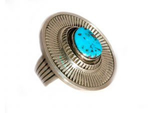Silver Bisbee Turquoise Ring