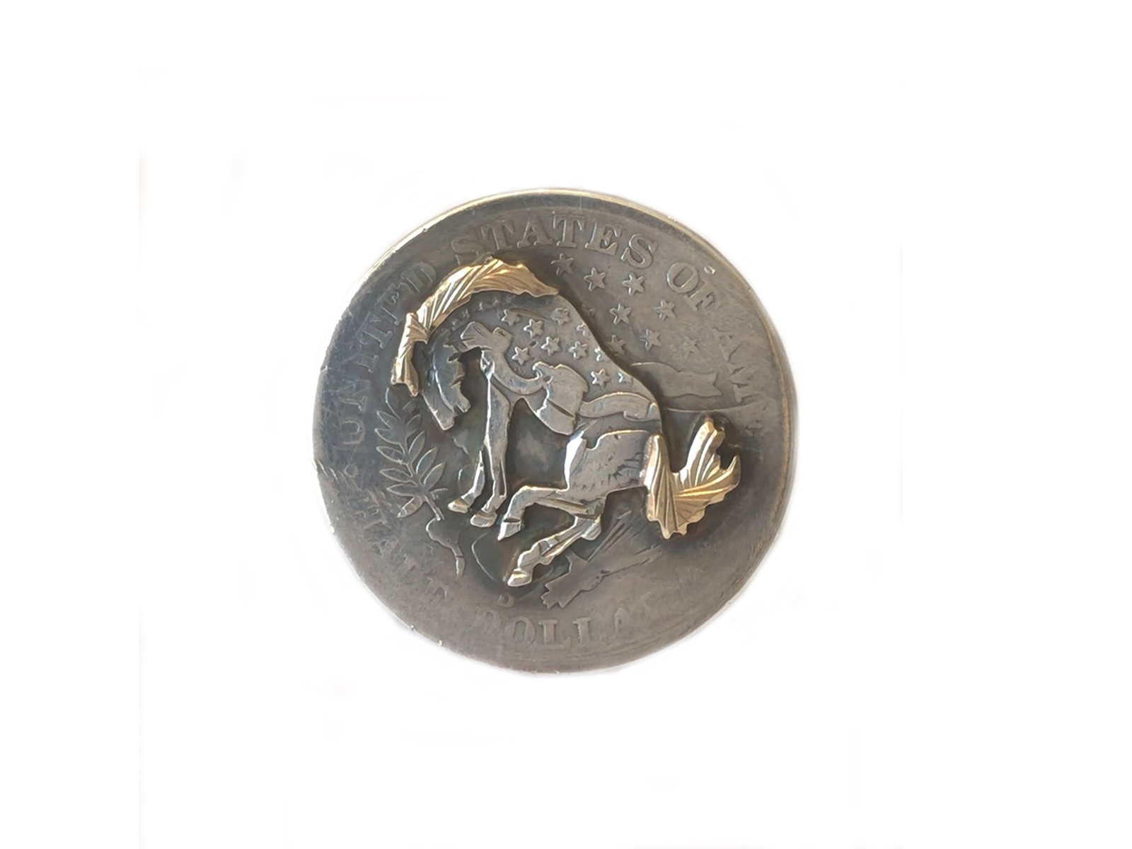 Horse Bucking On Half Dollar Ring