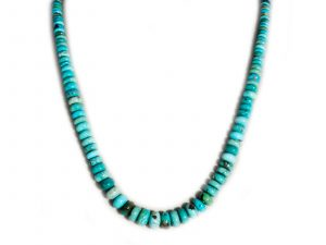 Number 8 Turquoise Beaded Necklace
