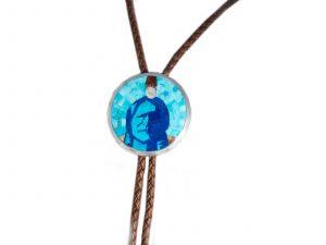 Handmade Sitting Bull Inlay Bolo Tie