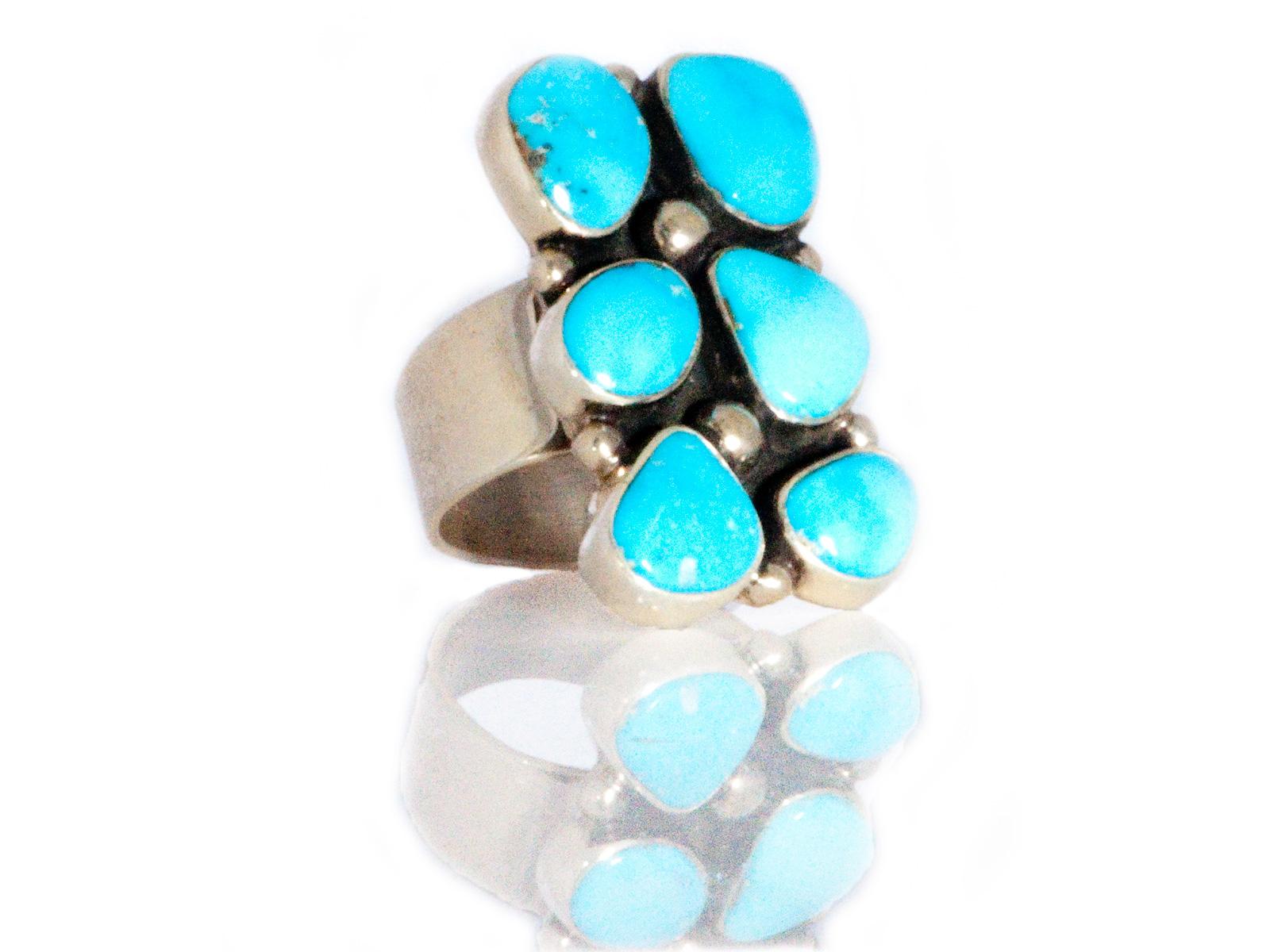 Six Stone Turquoise Ring