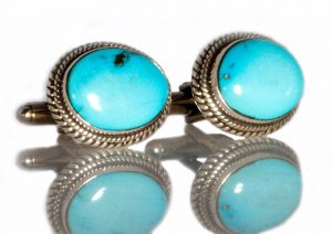 Sleeping Beauty Turquoise Cuff Links