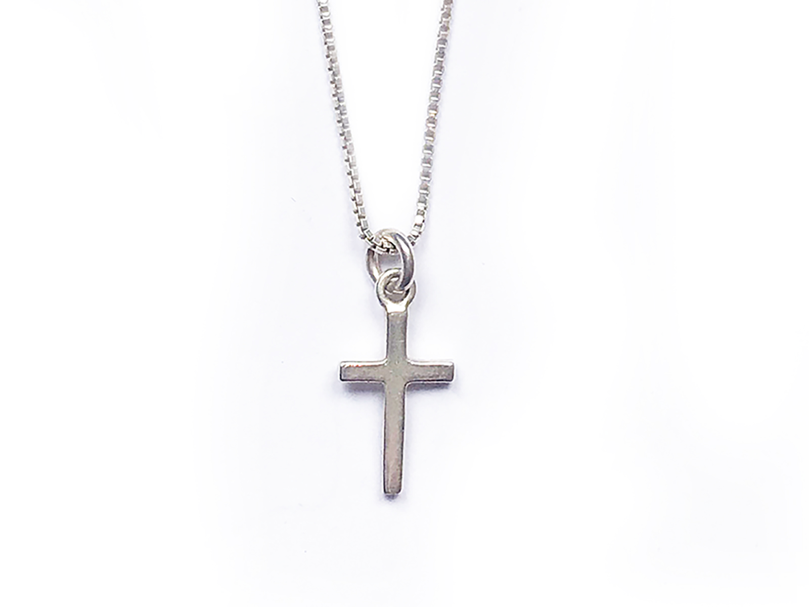 Small Silver Cross Necklace