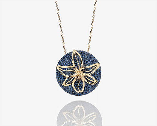 Spinning Lily Necklace