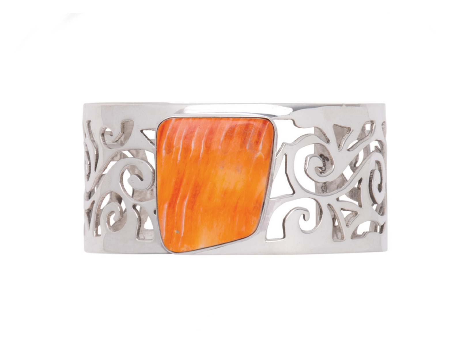 Spiny Oyster Silver Cuff