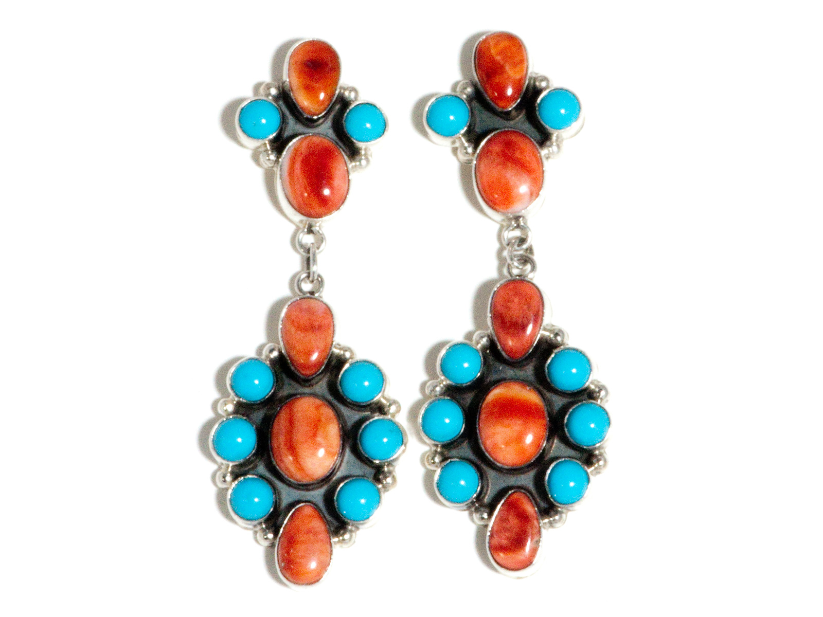 Spiny Oyster Turquoise Earrings