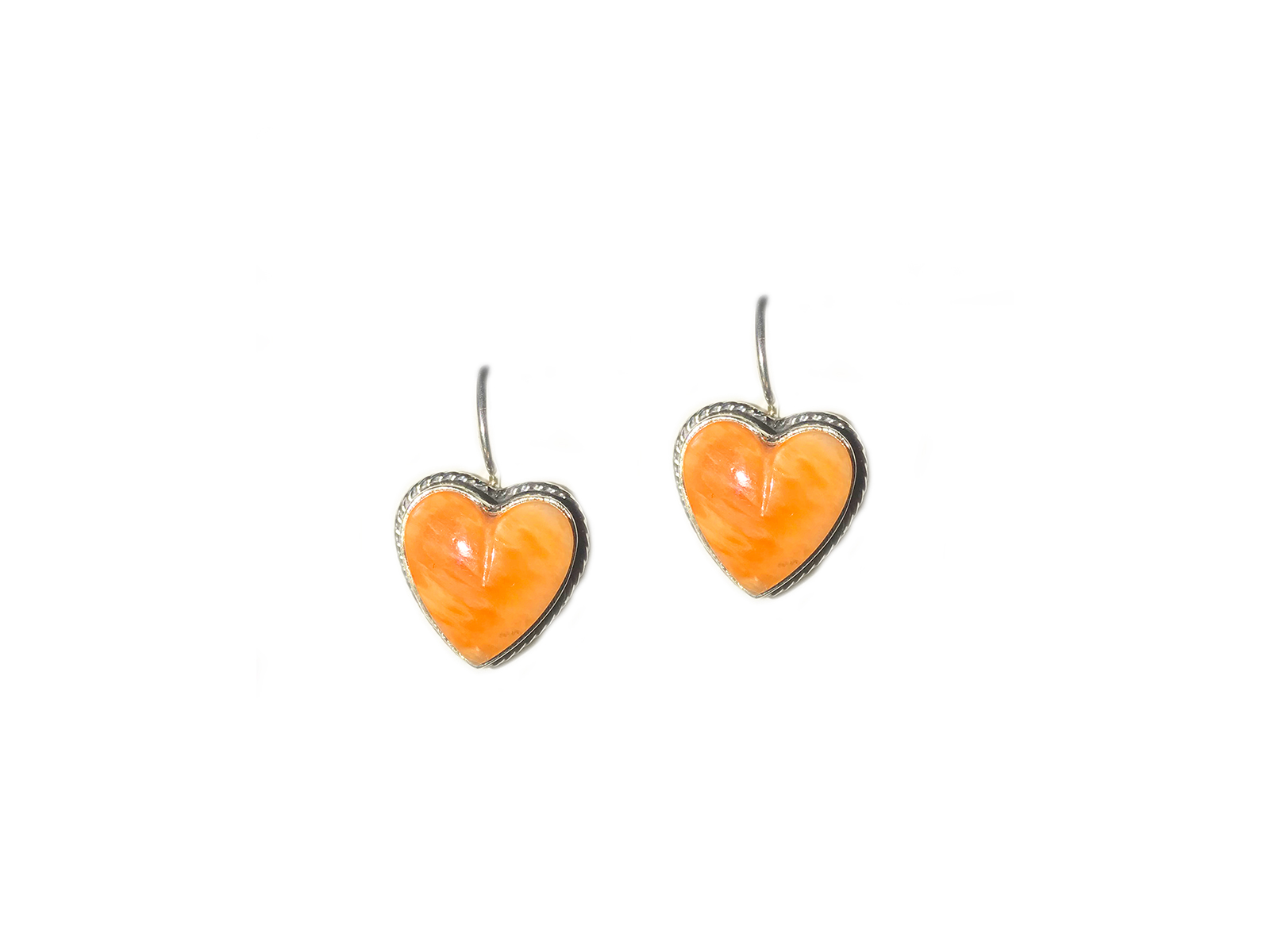 Spiny Oyster Heart Earrings