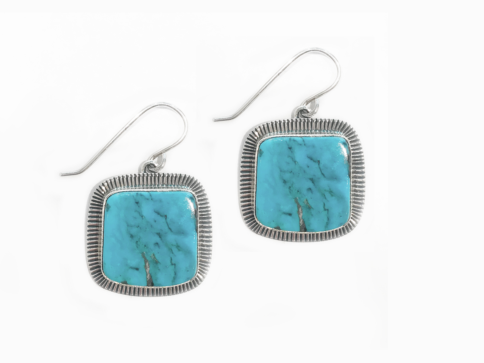 Square Turquoise Earrings