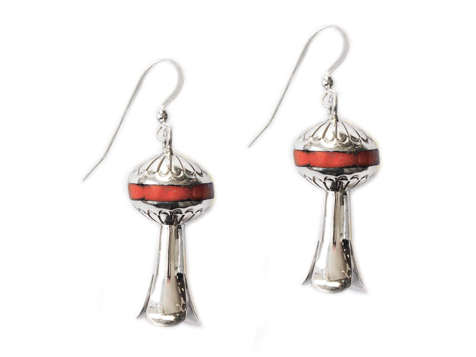 Silver Squash Blossom Earrings