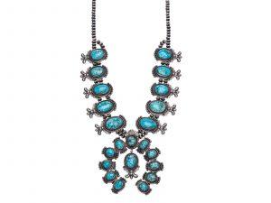 Leon Martinez Squash Blossom Necklace