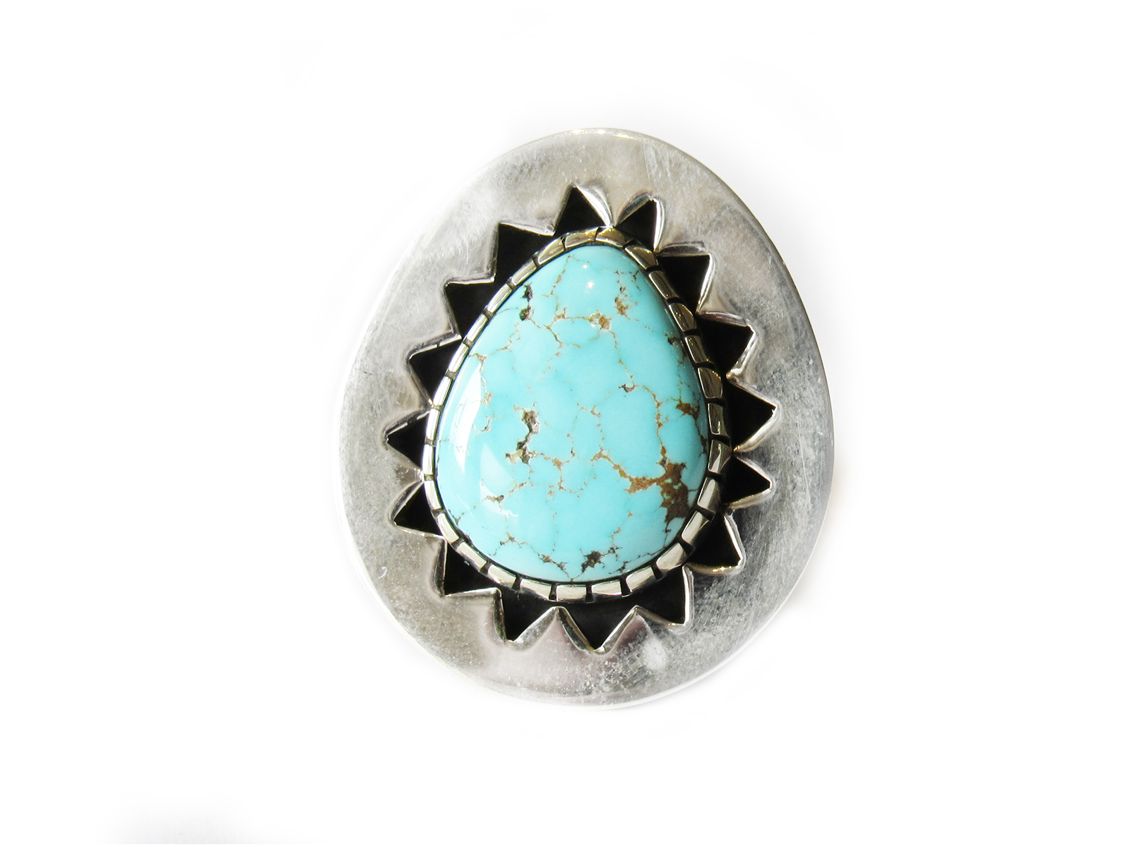 Number 8 Turquoise Silver Ring