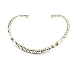 Sterling Silver Cable Collar