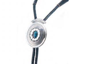 Handmade Sterling Silver Turquoise Bolo Tie