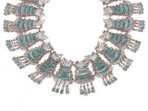 Silver Paloma Collar Necklace