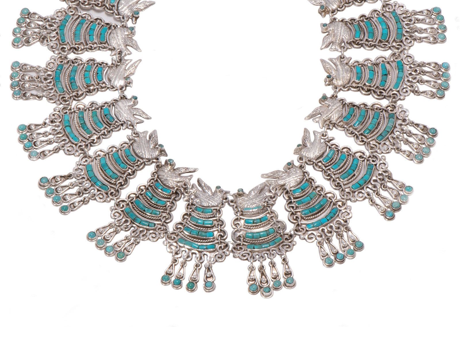 Sterling-Silver-Turquoise-Rodela-Necklace