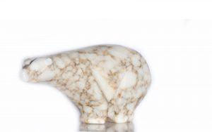 Alabaster Carved Stone Bear