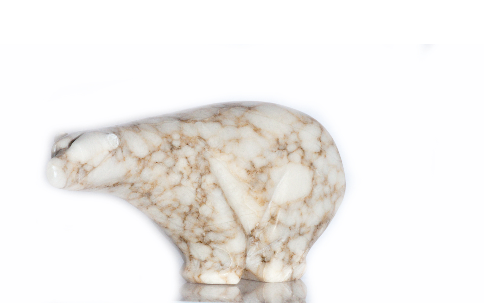 Alabaster Carved Stone Bear
