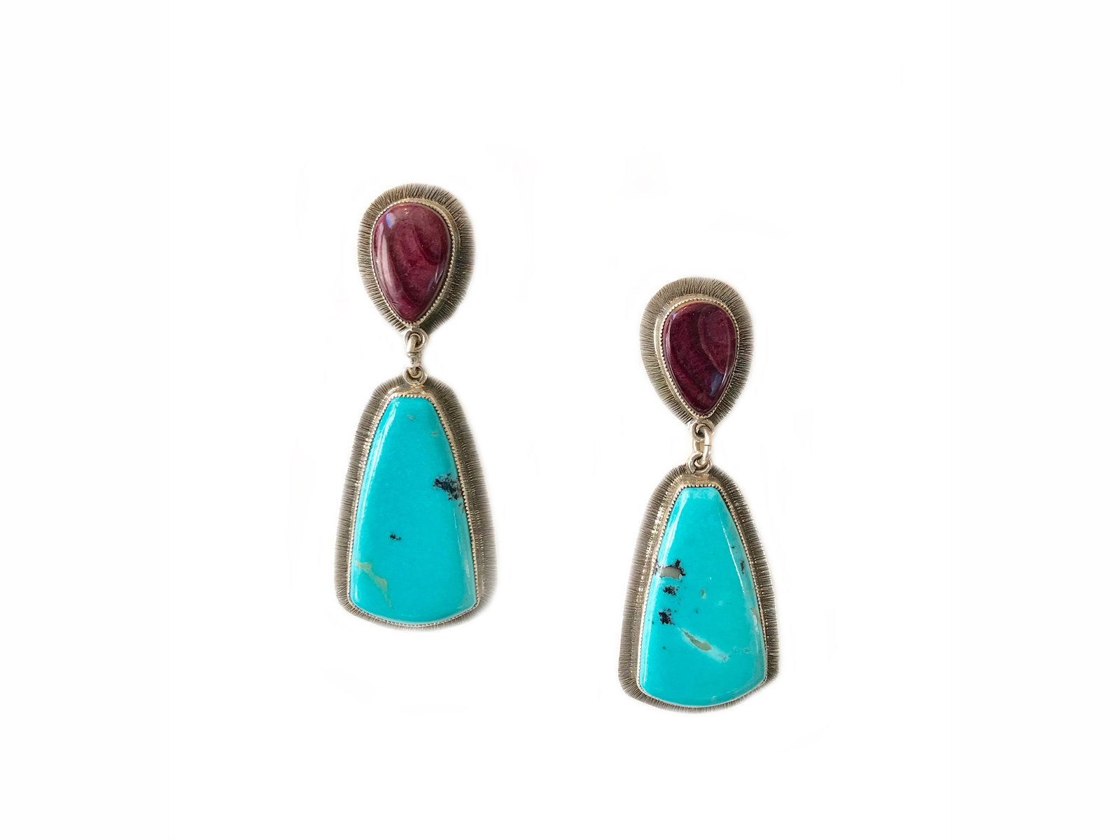 Spiny Oyster Kingman Turquoise Dangle