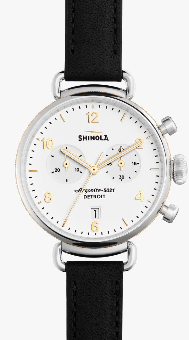 Canfield Chrono 38mm White Dial Watch