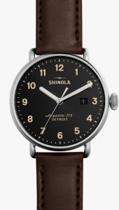 Canfield 43mm Black Dial Watch Front view