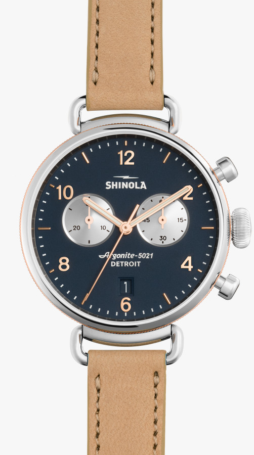 Canfield Chrono 38mm Blue Dial Watch