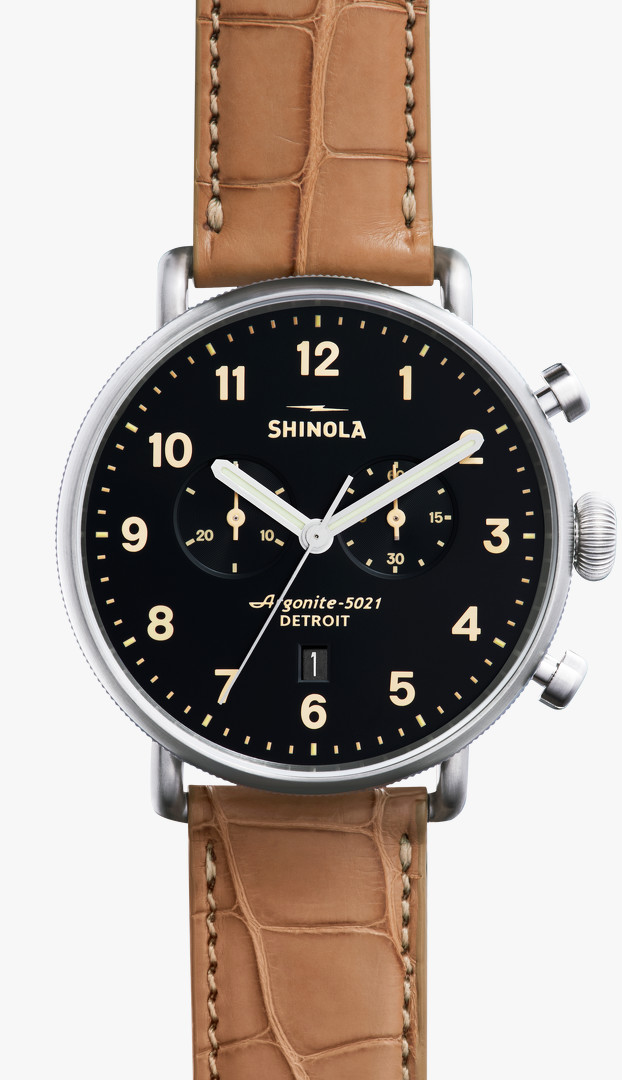 Canfield Chrono 43mm Black Dial Watch