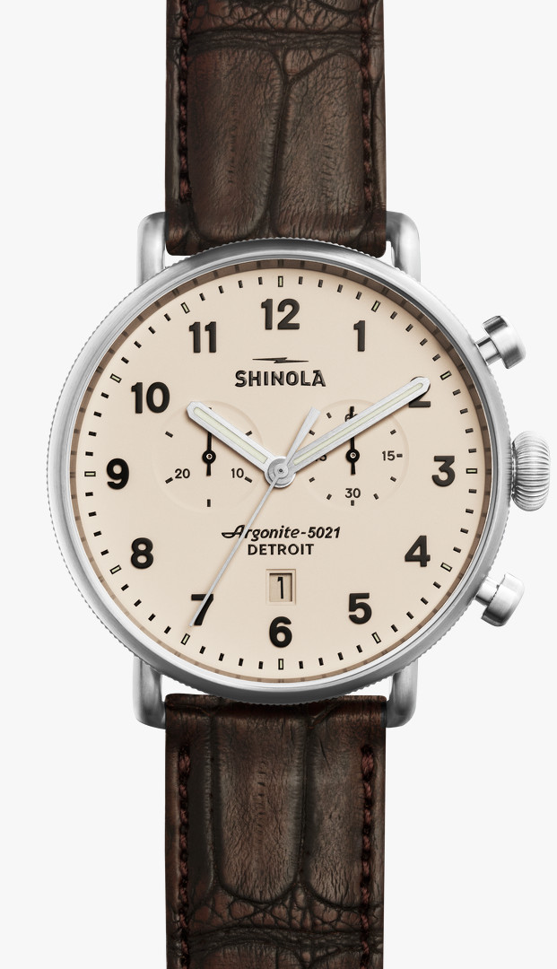 Canfield Chrono 43mm Cream Dial Watch