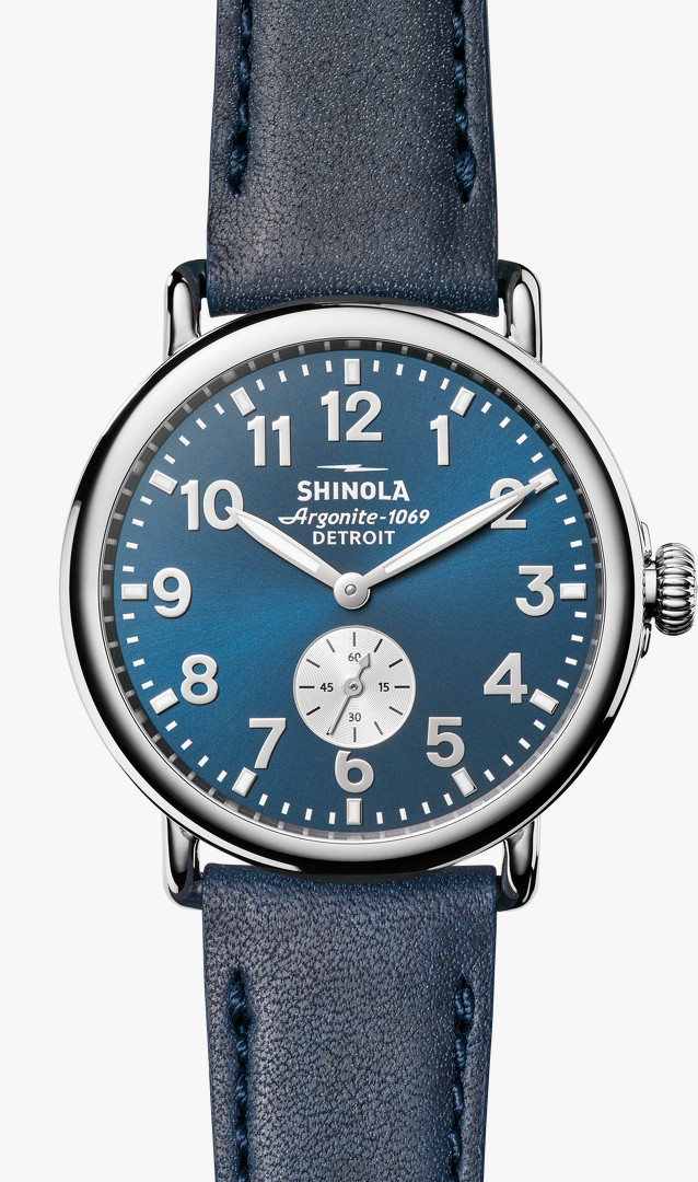 Runwell 41mm Blue Dial Watch