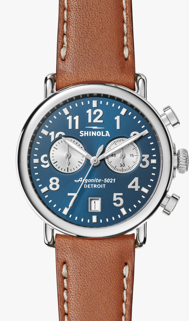 Runwell Chrono 41mm Blue Dial Watch