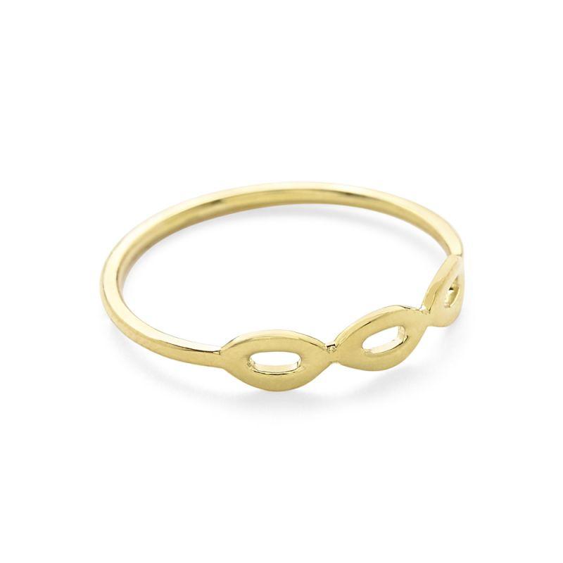 Three Mini Cherish Ring