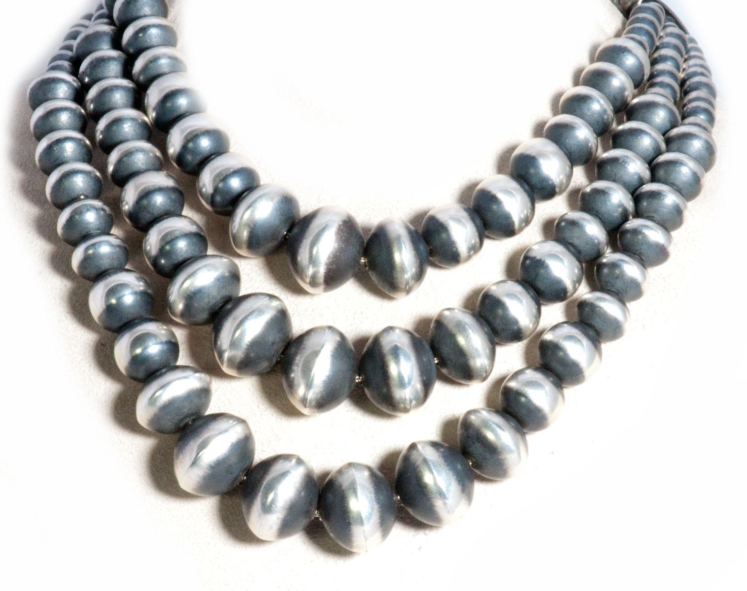Triple Strand Navajo Pearls