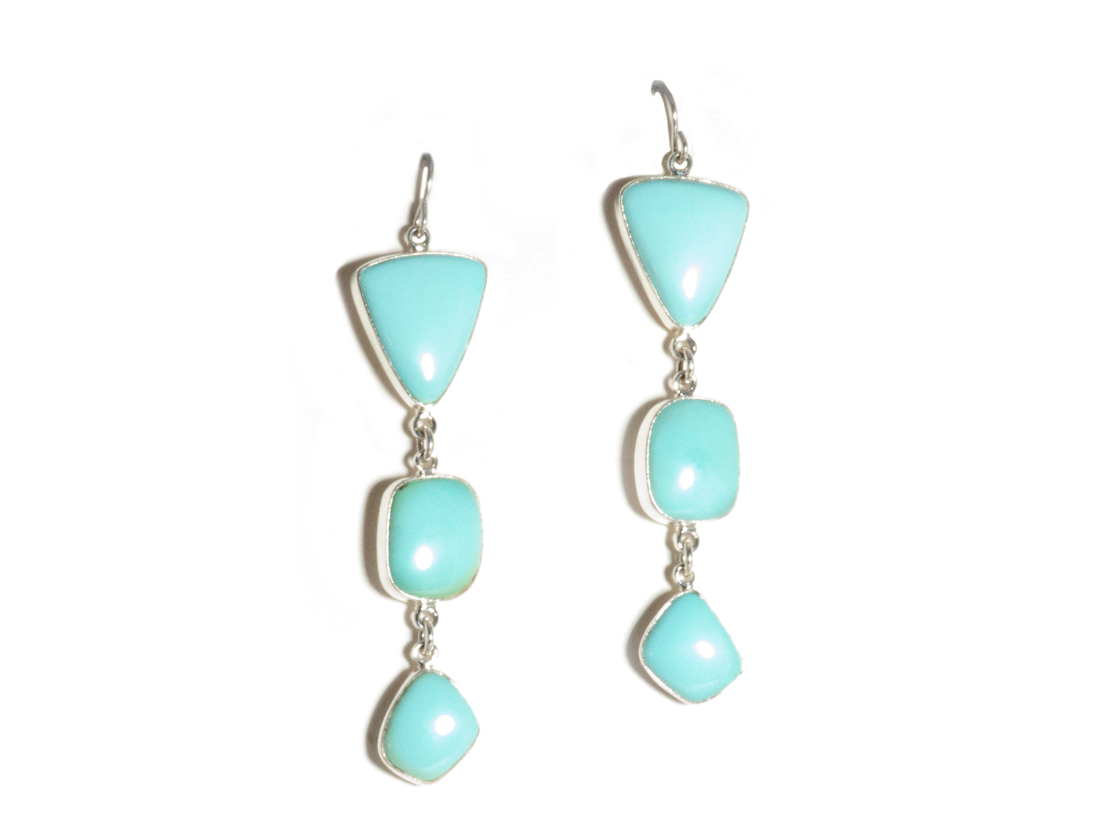 Triple Turquoise Drop Earrings