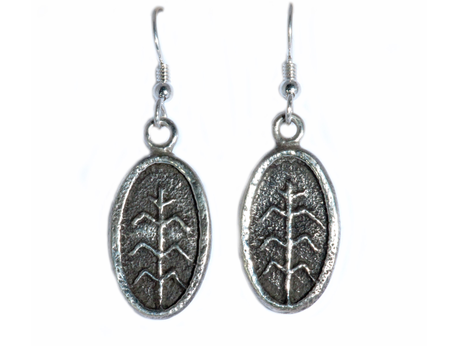 Tufa Cast Maize Earrings