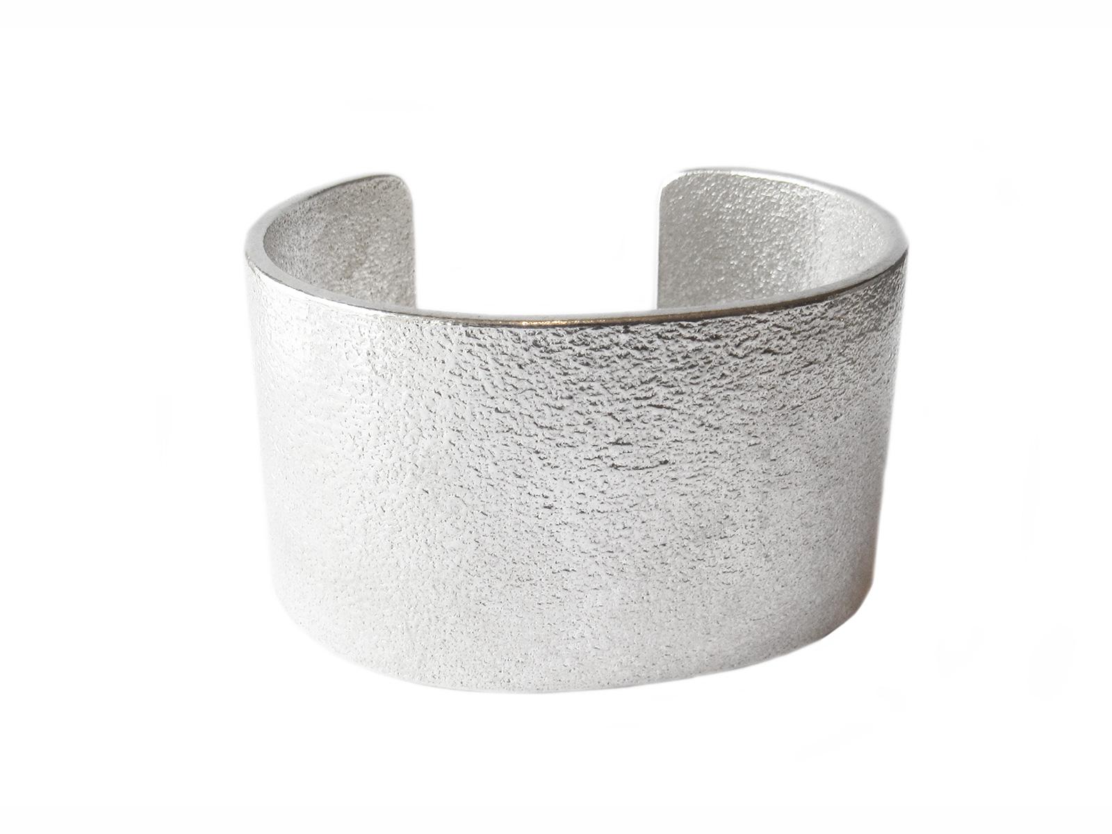 Tufa Cast Silver Cuff