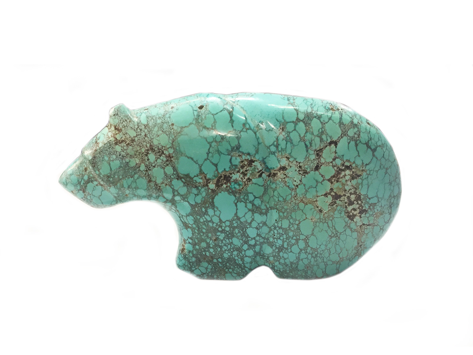 This Zuni Turquoise Bear Fetish