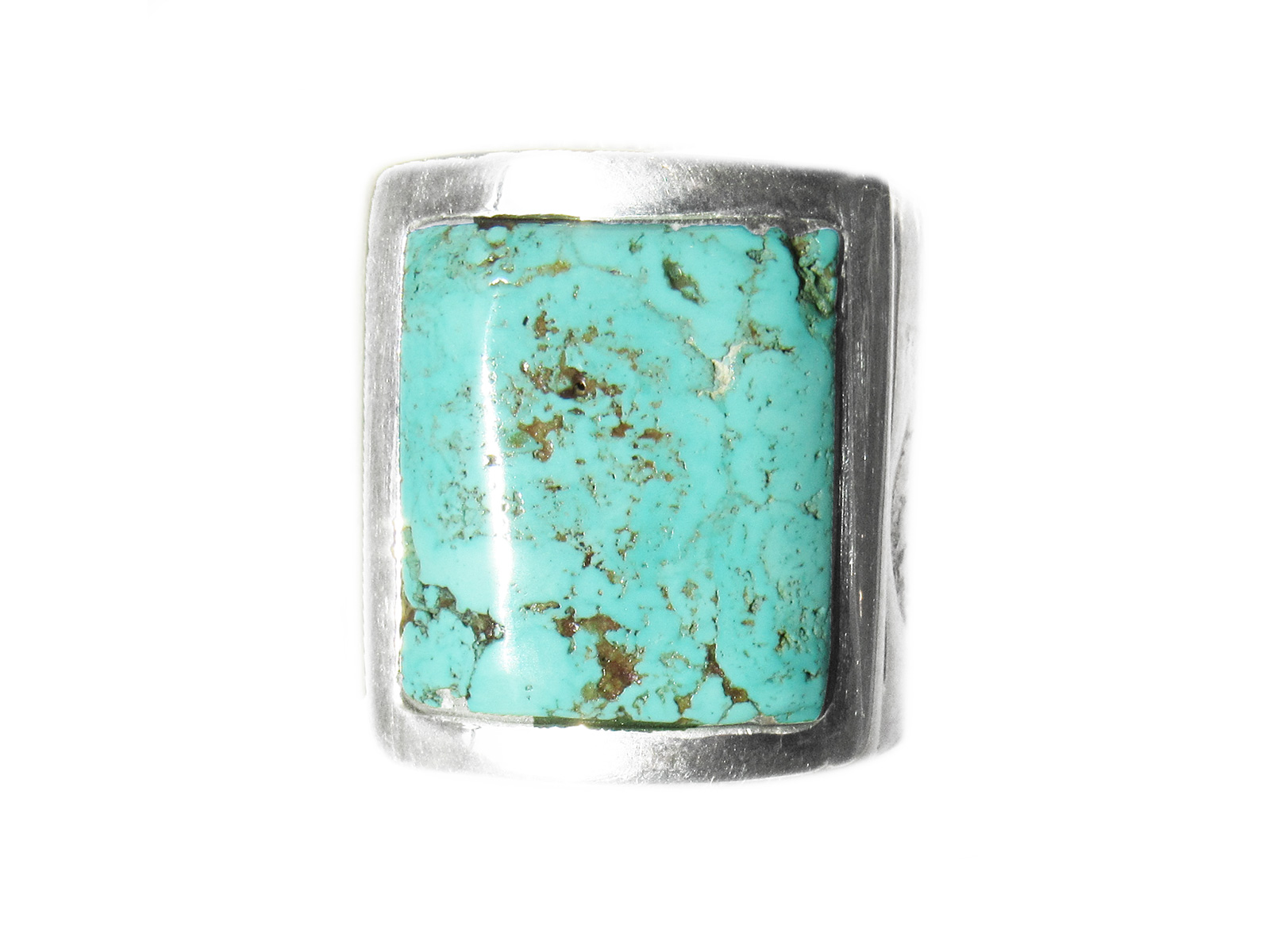 Turquoise Bear Stamp Ring