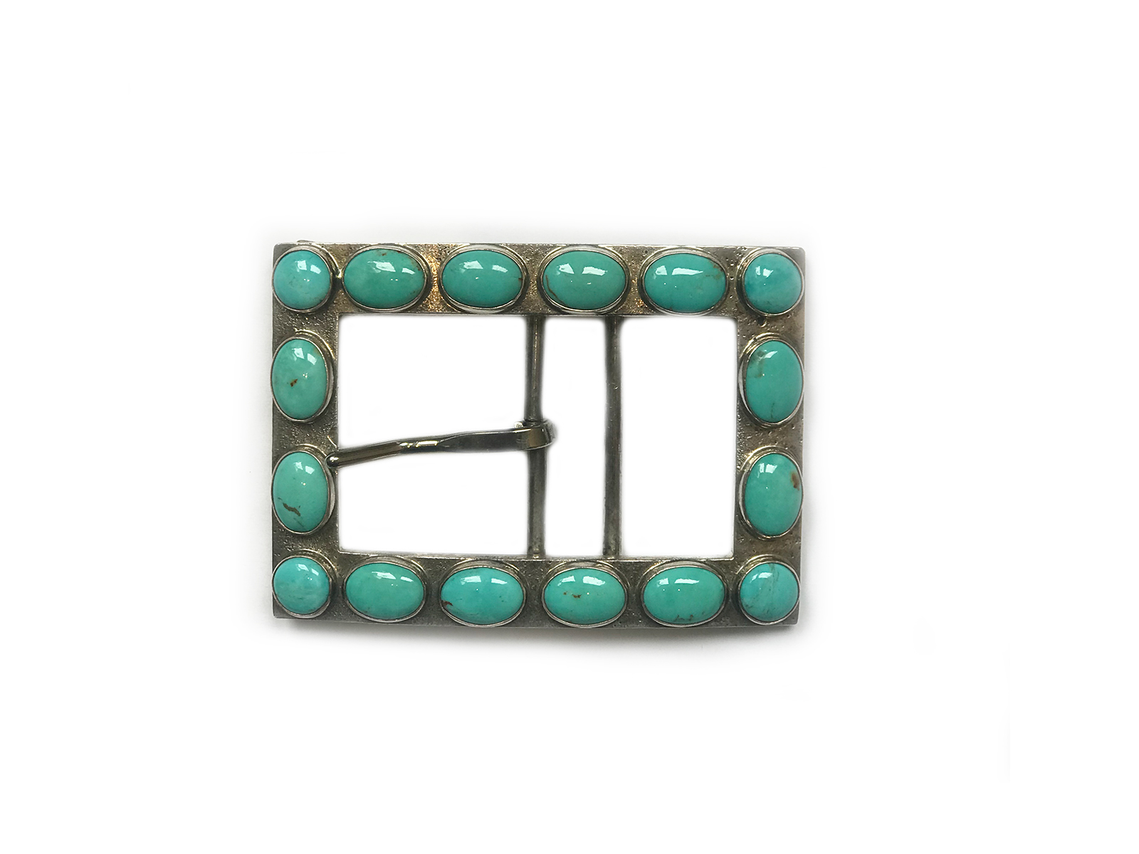 Kingman Turquoise Multi Stone Belt Buckle
