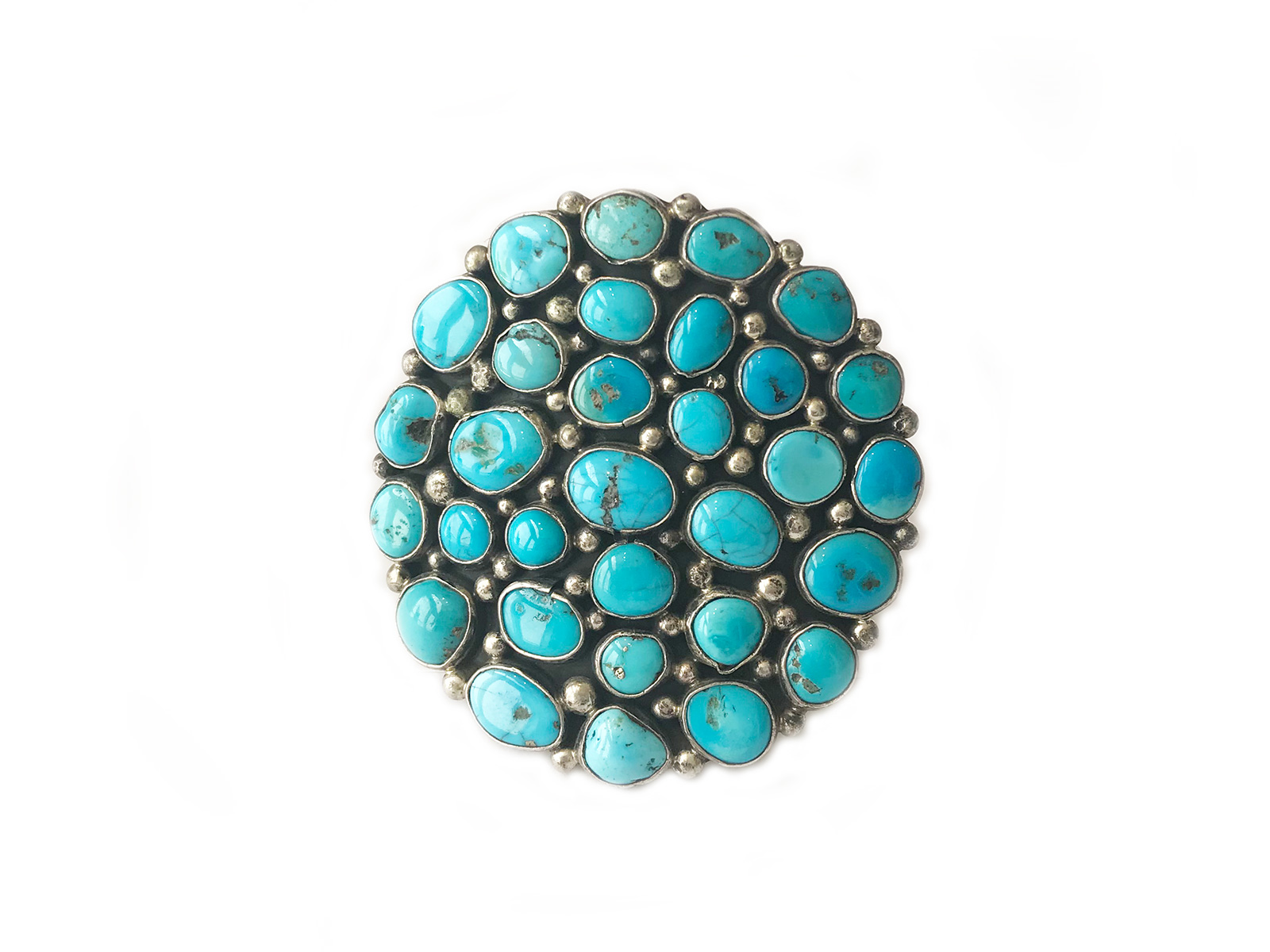 Sleeping Beauty Turquoise Round Cluster Cuff