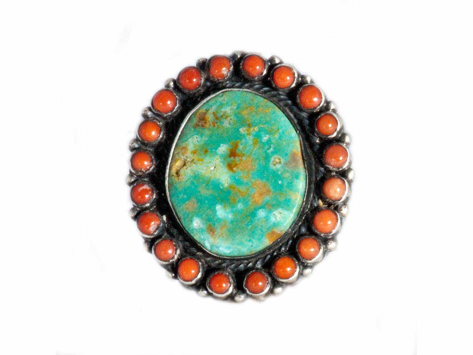 Coral Royston Turquoise Silver Ring